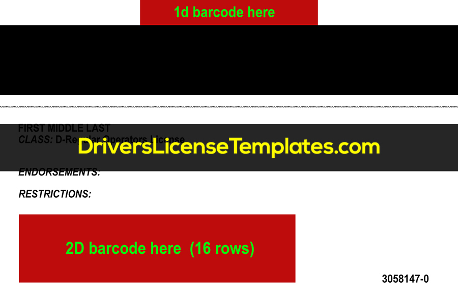 Alabama Drivers License Template New Back