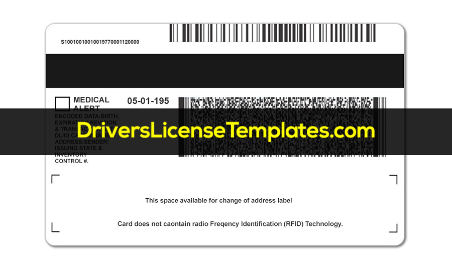 Michigan Drivers License Back New PSD template