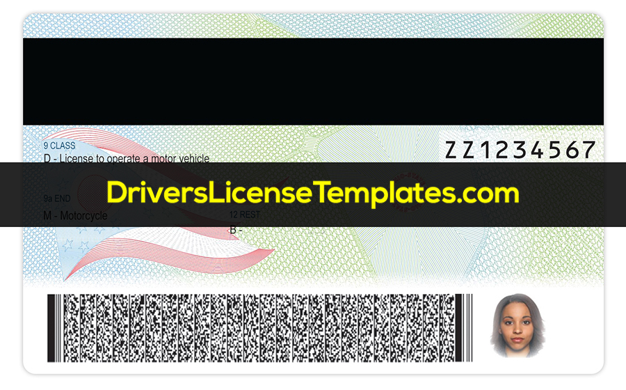 Ohio Drivers License PSD Template Back new