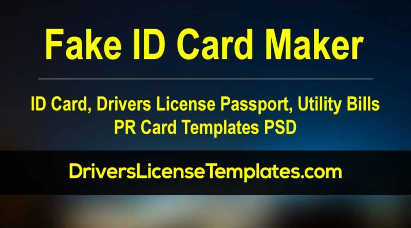 Fake ID Card Maker Online Free Editable Drivers license Passport Identity Card Utility Bill Passport Bitcoin PayPal verify